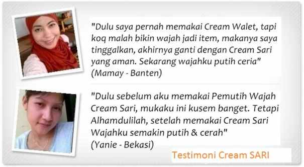 testimoni cream sari